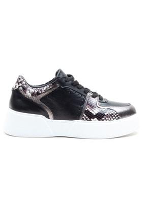 GRADA Kadın  Siyah Hakiki Deri Kalın Taban  Sneaker Ayakkabı 1