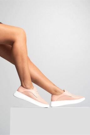 GRADA Kadın Pudra Hakiki Deri Yüksek Taban Sneaker 0
