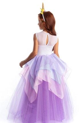 Tameris Kostüm Unicorn Elbise Lila Organze Katlı 1