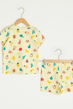 LC Waikiki Erkek Bebek Canlı Sarı Baskı Lua Pijama Takımı 1