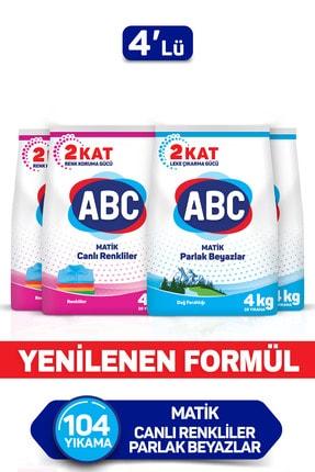 ABC Matik Canlı Renkler + Dağ Ferahlığı 4 Kg 4'lü Set 0