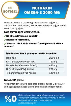 Nutraxin Omega 3 2000 Mg 60 Tablet 1