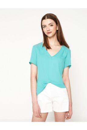 Koton Kadın Yeşil Bluz 7YAK63743EW 0