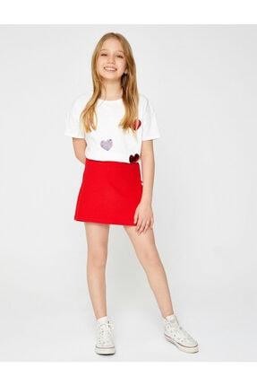 Koton Kız Çocuk Kırmızı Mini Etek 1