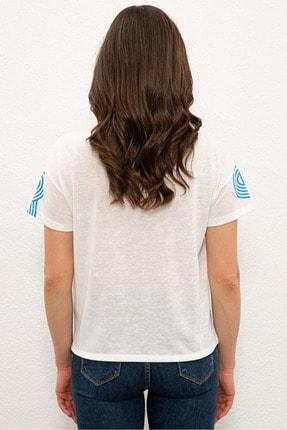 US Polo Assn Mavı Kadın T-Shirt 2