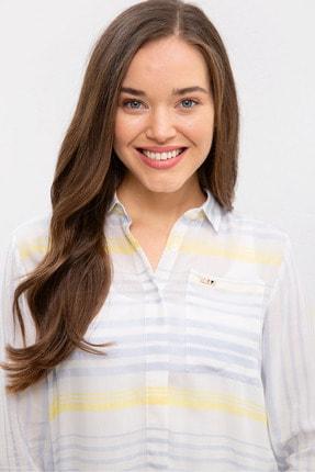 US Polo Assn Mavı Kadın Gömlek 1