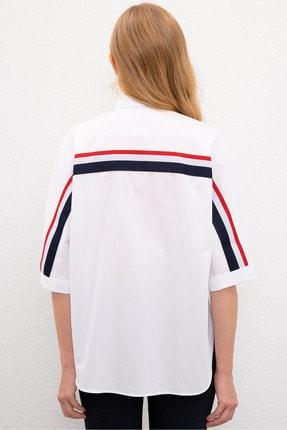 US Polo Assn Beyaz Kadın Gömlek 2