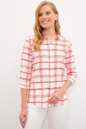 US Polo Assn Kırmızı Kadın Gömlek 0