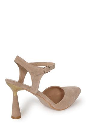 PUNTO Kadın Süet Kadeh Topuklu Ayakkabı 2