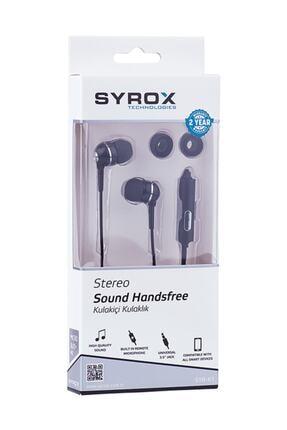 Syrox Mikrafonlu Stereo Kulak Içi Kulaklık Siyah 0