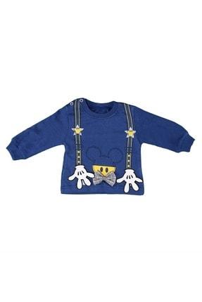 Babyboy Erkek Bebek Eşofman Takımı El Baskılı - Mavi - 12-18 Aylık 1
