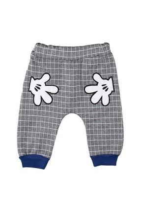 Babyboy Erkek Bebek Eşofman Takımı El Baskılı - Mavi - 12-18 Aylık 2