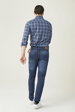 D'S Damat Erkek Slim Fit Mavi Renk Pantolon 3