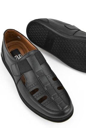 Ziya , Erkek Hakiki Deri Ayakkabı 111423 230 Sıyah 3