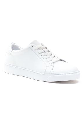 GRADA Kadın Sade Beyaz Hakiki Deri Hafif Taban Sneaker Ayakkabı 2