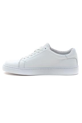 GRADA Kadın Sade Beyaz Hakiki Deri Hafif Taban Sneaker Ayakkabı 3