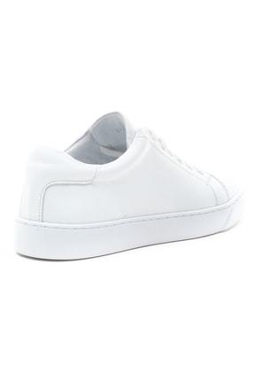 GRADA Kadın Sade Beyaz Hakiki Deri Hafif Taban Sneaker Ayakkabı 4