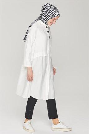 Armine Kadın Siyah Çıtçıt Detaylı Skinny Pantolon 21y2026 0