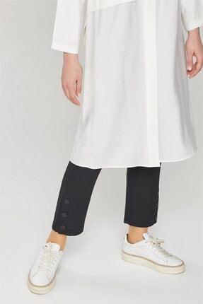 Armine Kadın Siyah Çıtçıt Detaylı Skinny Pantolon 21y2026 1