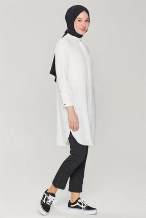 Armine Kadın Siyah Çıtçıt Detaylı Skinny Pantolon 21y2026 4