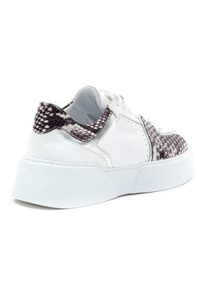 GRADA Kadın Beyaz Hakiki Deri Kalın Taban Sneaker Ayakkabı 4