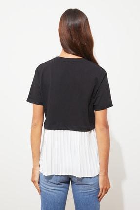 TRENDYOLMİLLA Siyah Piliseli Salaş Örme Bluz TWOSS20BZ1400 3
