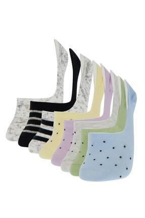 Defacto Kadın Desenli  Babet Çorap 8'li 0