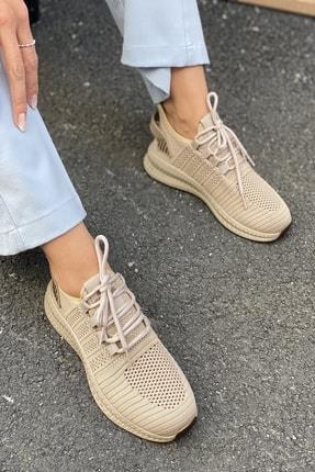 İnan Ayakkabı Unisex Kahve Triko Ayakkabı&Sneaker 21i500 1