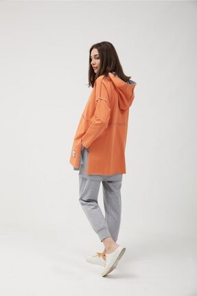oia Kadın  W-0900 Oranj Pamuklu Tunik Pantolon Takım Eşofman Takım 2
