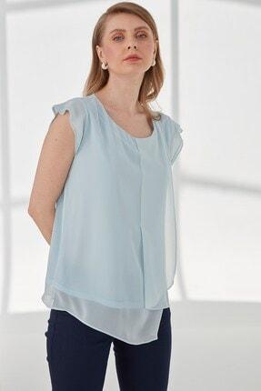 Journey Kadın Mavi  Kısa Kol Bluz 2
