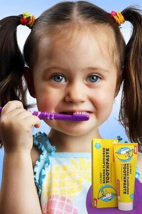 Luis Bien Natural Muz Aromalı Çocuk Diş Macunu 50 ml 1