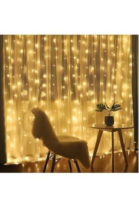 GÖBEKLİTEPE TİCARET Alitech 2,5x2,5 Günışığı Sarı Renk Prizli Perde Led Işık Dekoratif Saçak Led 0