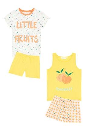 Penti Çok Renkli Kız Çocuk Little Fruits Ss 4Lu Pijama Takımı 3