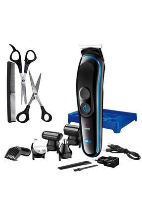 İŞTEBUKACMAZ Özel Erkek Bakım Tıraş Makinesi 8 Ürün Bir Arada Saç Sakal Burun Kulak Ense 2