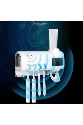 SHOPSET Akıllı Diş Macunu Sıkacagı Ve Uv Sterilizatör Fırça Tutucu 1
