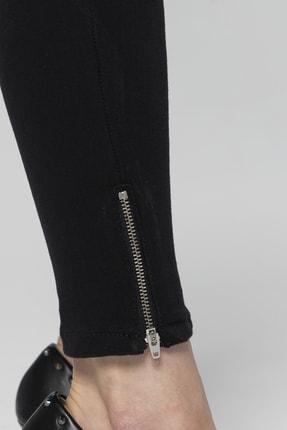 CROSS JEANS Judy Siyah Yüksek Bel Paçası Fermuarlı Skinny Fit Jean Pantolon 4