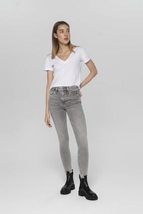 CROSS JEANS Judy Açık Gri Yüksek Bel Skinny Fit Jean Pantolon 0