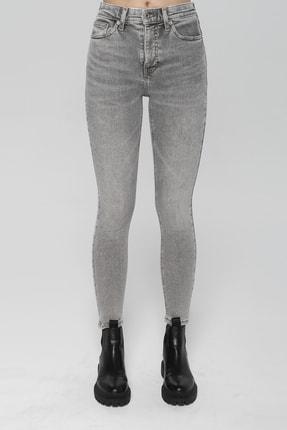 CROSS JEANS Judy Açık Gri Yüksek Bel Skinny Fit Jean Pantolon 1