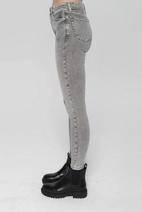 CROSS JEANS Judy Açık Gri Yüksek Bel Skinny Fit Jean Pantolon 3