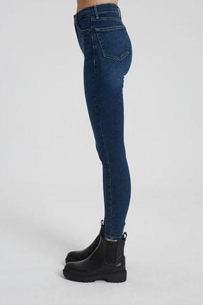 CROSS JEANS Judy Koyu Taş Indigo Yüksek Bel Skinny Fit Jean Pantolon 2