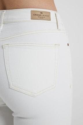 CROSS JEANS Judy Beyaz Yüksek Bel Kesikli Skinny Fit Jean Pantolon 4