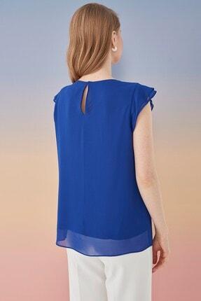 Journey Kadın Lacivert Volanlı Bluz 2