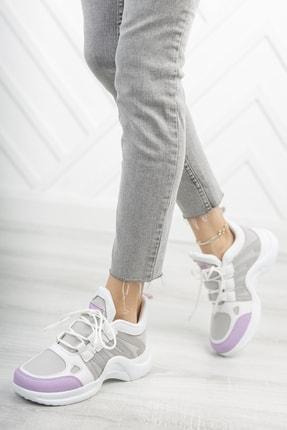 Moda Değirmeni Kadın Mor Sneaker 1