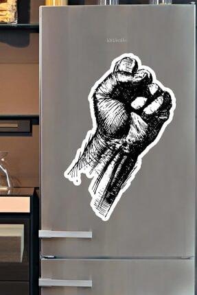 Karakalem Yumruk Özel Tasarım Magnet 20x30 cm 8698357415930