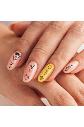 Artikel Etnik Desenler-2 Tırnak Dövmesi Tırnak Tattoo Nail Art Tırnak Sticker 0