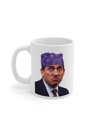 Mugs&Gift Beyaz The Office Tv Series Prison Mike Baskılı Kupa Bardak 0