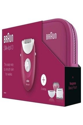 Braun Silk-épil 3 3415 GS Epilatör + Çanta 1