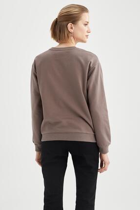 Defacto Yazı Baskılı Relax Fit Sweatshirt 3