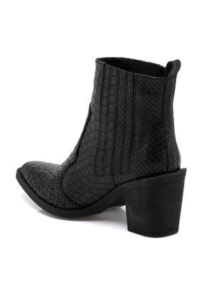 Tergan Kadın Siyah Topuklu Bot 64756a17 1