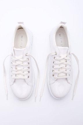 Marjin Kadın Kalın Taban Sneaker Spor Ayakkabı Aportebeyaz 2